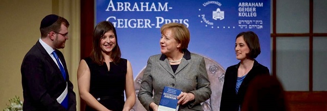 Abraham-Geiger-Preis an Bundeskanzlerin Dr. Angela Merkel
